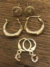 Vemeil 925 Sterling Silver 3 Pairs Of Earrings