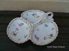 COL YS:   SPODE COPELAND ENGLAND PORCELAIN DECORATED DIVIDED SERVING DISH