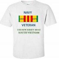 USS NEW JERSEY  BB-62 * SOUTH VIETNAM*VIETNAM VETERAN RIBBON 1959-1975 SHIRT