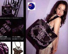 Lady Women Girl JAPAN ANNA SUI black Organiser Travel Shoulder shopping Bag F303