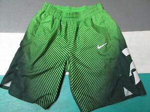 Nike Michigan State Spartans Green Swirl Basketball Shorts Men's Large Dri Fit