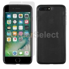 New Hot! Soft Slim Case+Lcd Hd Screen Protector for Apple iPhone 7 7S Plus Black