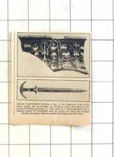 1936 Important Discoveries Northern Syria, Minoan Sword Bladeand Hilt Intact