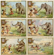 Chromo Liebig Sang. 553 ITA Elefante e Bolle di Sapone ANNO 1898
