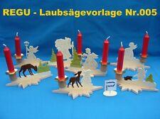 """+ REGU - Laubsägevorlagen Nr.005 - """"sieben verschiedene Kerzenständer / Erzgeb."""""""