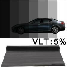 SUPER DARK BLACK 5/% LVT CAR WINDOW TINT 6M x 75CM FILM TINTING NEW