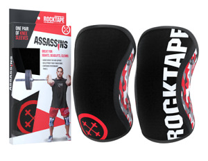 RockTape Assassins Knee Support Sleeves - Pair - 7mm - Cross Fit - Camo Red