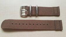 bracelet/strap NATO 2 pièces  marron  20mm marque esprit nato etat neuf