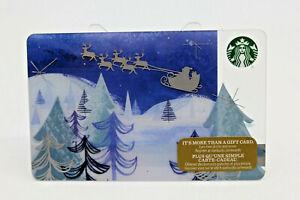 Starbucks Coffee Gift Card 2016 Santa's Journey Snow Tree Mountain Zero Balance