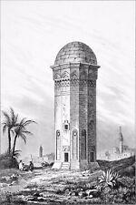 ARMÉNIE - LA TOUR d'EREVAN - Belle gravure (dite sur acier) du 19e siècle