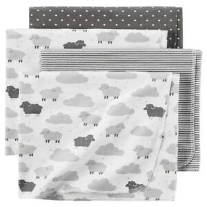 CARTER'S 4-PACK RECEIVING BLANKETS NEW WITH TAGS D06G004