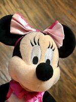 Rare Walt Disney Park Plush Minnie Mouse Ballerina Pink Tutu Doll W/ Tag