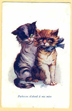 1942 Vintage French Postcard Cat'S - Friends Chatteries sent to Estonia