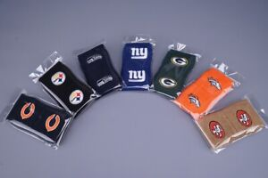 *NFL EMBROIDERED TERRY CLOTH TEAM WRISTBANDS BY FRANKLIN SPORTS ~ L@@K!!