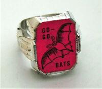 Go-Go Bats Toy Gum Vending Machine Prize Plastic Ring + Card 1960s NOS New