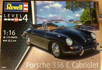 REVELL,ESCALA 1/16,PORSCE 356 C CABRIOLET,REF.07043