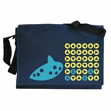 Ocarina Songs Zelda inspired Navy Blue Messenger Bag