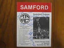 1981 SAMFORD  Men's Basketball  Program(13 Signed/RONALD  RADFORD/STEVE  BARKER)