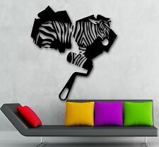 Wall Stickers Vinyl Decal Zebra Animal Abstract Modern Room Decor (ig1760)
