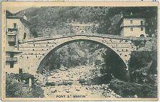 CARTOLINA d'Epoca AOSTA provincia - Pont-Saint-Martin 1921