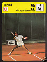 GEORGES GOVEN French Tennis Player Photo 1978 SPORTSCASTER CARD 37-04