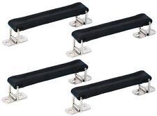 4x Maniglie Cuoio Nero Per Valige Bauli, maniglia di trasporto - NUOVO