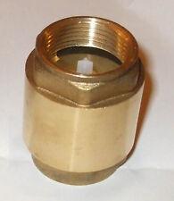 "Brass non-return valve hot cold water 1""bsp NRV100"