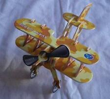 Yellow BI-Plane Airplane Educational 3D Puzzle Easy to Make Building Model NEW ✈