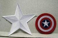 Captain America Movie CHEST STAR & SHIELD Logo Patch Set of 2 (CAPA-SET2)