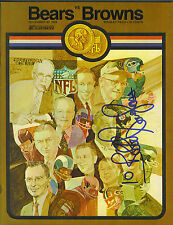 Bobby Douglass signed Chicago Bears vs Cleveland Browns 1969 football program
