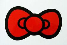 Red Bow Kitty Tie Decor Sticker Auto Car Window Bumper Vinyl Decal Girlie Gift