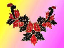 Sequin Bead Applique Belly Dance Motif Necklace R & B
