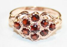 9ct Rose Gold Garnet Cluster Ring Size L * Brand New *