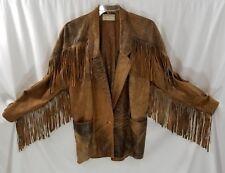 VTG Dero Enterprise by Rocco Brown Distressed Leather Western Jacket 2XL