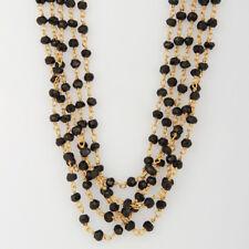 Black Onyx Gemstone 925 Silver 16 Inch Pendant Necklace Handmade Jewelry
