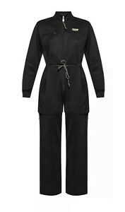Adidas Originals Women's Sizes  R.Y.V. Zip Off Leg Jumpsuit GN4228  Black NWT