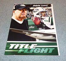 New York Jets 2011 Official Yearbook Magazine Mark Sanchez Rex Ryan