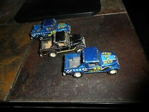 (3)  Lot 1982 Hot Wheels Jeep Scrambler BLACK & BLUE Truck Realrider Goodyear