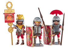 Playmobil 3 ROMAN SOLDIERS -Legionaries 6490 Legion Army Custom Lot NEW!