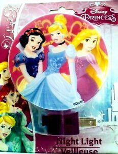 Disney PRINCESS or FROZEN Plug-in NIGHT LIGHT Lamp 7 Varieties NEW!