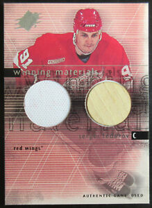 00/01 UD SPX WInning Materials Jersey/Stick Sergei FEDOROV Detroit RED WINGS