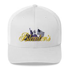 New listing New Blanton's Bourbon Logo with American Flag Trucker Cap, Blantons
