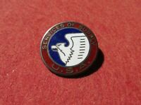 ORIGINAL WWII US ARMY SERVICE OF SUPPLY DI CREST pin back Sterling enameled