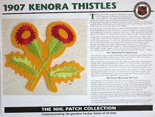 Willabee & Ward ~ Nhl Throwback Hockey Patch & Info Card ~ 1907 Kenora Thistles