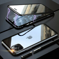 For iPhone 11 Pro XS MAX SE 360° Hybrid Magnetic Metal Tempered Glass Case Cover