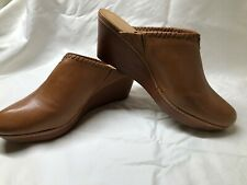 Jack Rogers size 8.5M clogs saddle brown whipstitch - new