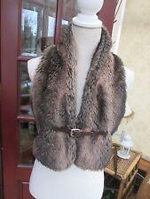 Waist Length Faux Fur Waistcoats for Women