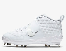 Nike Mens WHITE Baseball cleats Force Air Trout 6 Pro SHOES AR9815 100 []
