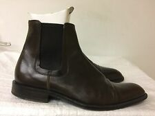 Hugo boss Men brown leather ankle boots size 7