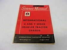 1958 International Harvester IH  6 & 9 CRAWLER TRACTOR CHASSIS SERVICE MANUAL
